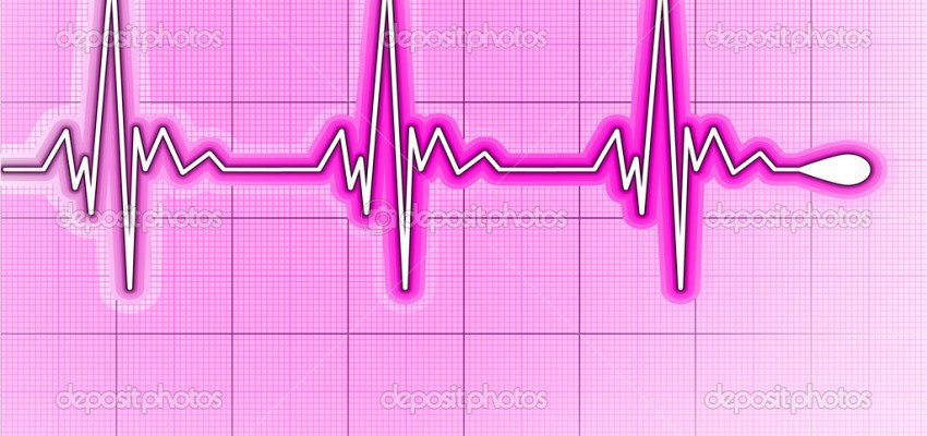 Illustration depicting a graph from a heart beat and a heart. EPS 8 vector file included